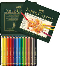 #110024 Tin of 24 Faber-Castell Polychromos Artists' Art Colour Pencils New!