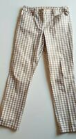 R M WILLIAMS Beige/White Check Stretch Pants Size 10