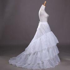 Neu Kathedrale Weiß Reifrock 3 Ringe Brautkleid Tüllrock Unterrock Petticoat zug