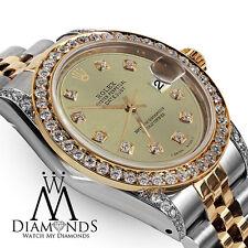 Rolex Ladies 78273 Datejust 2 Tone 31mm Champagne Color Diamond Dial Watch