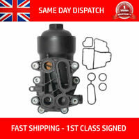 OIL FILTER HOUSING COOLER-CAP GASKET& FILTER FITS AUDI SEAT SKODA VW 1.6-2.0 TDI