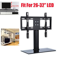 "26 71"" Universal Wall Top TV Stand W/ Bracket Metal Pedestal LCD VESA Mount UK Fit for 26-32 Inch"