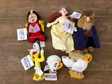Disney Store Beauty & the Beast lot Plush Stuffed bean bag beanie Belle