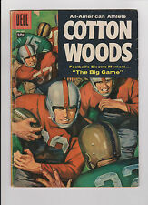 """1957 Dell Comic Football Book """"All American Athlete Cotton Woods"""" 4 Color #837"""