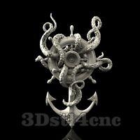 3D Model STL CNC Router Artcam Aspire Octopus Whell Anchor Cut3D Vcarve