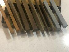 tin of 10 assorted sharpening stones carborundum honing stone square triangle