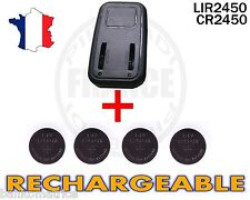 CHARGEUR + 4 PILES BOUTON CR2450 RECHARGEABLE 3.6V LIR2450 CR2450 BATTERY ACCU