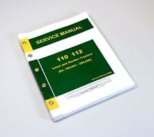 SERVICE MANUAL FOR JOHN DEERE 110 112 LAWN and GARDEN TRACTOR REPAIR TECHNICAL