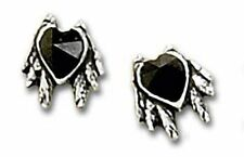 Alchemy Ohrstecker Ohrring Black Heart Studs (1 Paar) Gothic Schmuck