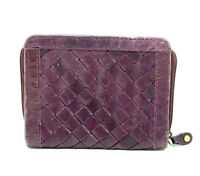 East Vintage Womens Leather Coin Card Pouch Wallet Purse with Zip Closure