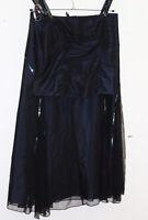 Per Una top + skirt midnight mix 14 black sparkle frilly BNWT 2 piece M & S