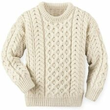 Mens / Ladies Traditional 100% British Arran Wool Jumper - Made In Scotland