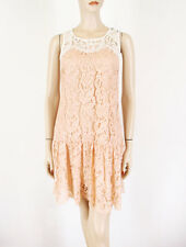 Essentiel Antwerp Crazy in Lace Dress Pink Ivory 36 $312 8503 BM7