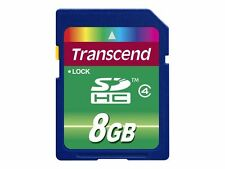 Transcend 8gb Class 4 SDHC Secure Digital Memory Card
