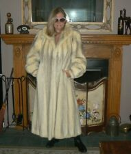 Beautiful Vintage Full Length Cross Mink Fur Coat