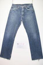 Levis 501 (Cod. H2208) Tg48 W34 L34 jeans usato Vintage retrò Streetwear fashion