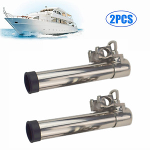 2PCS Fishing Boat Rods Holder Rotatable Holder with Clamp 360 Degree Adjustable