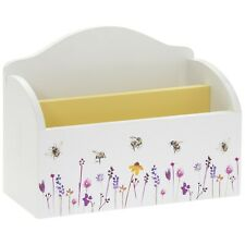 Busy Bee Design Wooden Post Mail Holder Storage Container Organiser Letter Rack