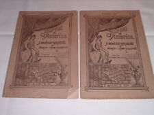 2 Antique America Philatelic journal Philatelist 1886 Stamp Collecting