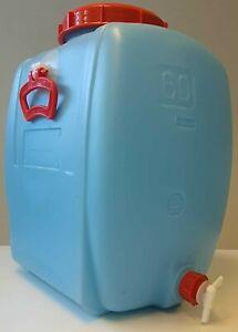 wasserfass - Weinfass - lebensmittelecht - blau - 60l - Weithals-Öffnung