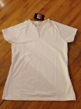 NWT Women's Nike Golf Dri-fit White Short Sleeve Golf Shirt Size Large