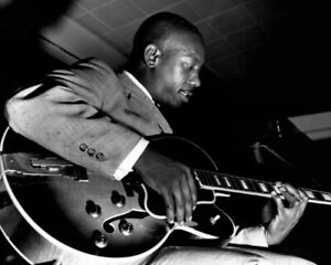 Jazz Guitarist WES MONTGOMERY Glossy 8x10 Photo Old Music Print Poster
