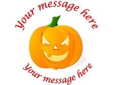 35 Personalizado Halloween pegatinas 3for2 Calabaza 158 Regalo Etiqueta Partido