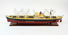 "American Scout C-2 Cargo Ship Handmade Wooden Ship Model 50"" RC Convertible"