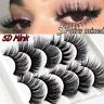 3D Mink 5 Pairs Eyelashes Natural False Fake Long Thick Handmade Lashes Makeup