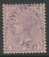 EAST INDIA 1874, 9P USED ABROAD ADEN STEAMER POINT CANCELLATION RARE.