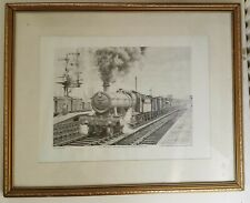 More details for gwr 2841 hauls heavy freight through leamington spa,tom connell 1983 abbot print