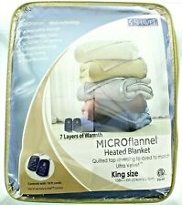 Shavel King Size Anti-Pill Microflannel Heated 7 Layer Blanket Bedding