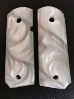 1911 Pearl fits Colt & Clones Officers, Defender, Compact GRIPS Mother of Pearl