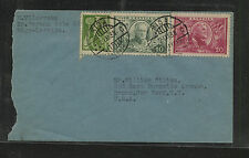 Latvia  202,203  on   cover  to   US         KEL0510