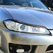 Real Carbon fiber Eyelid Eyebrow Cover Trim For Nissan 200SX Silvia S15 99-2004