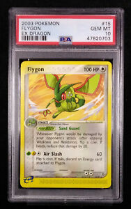 PSA 10 Flygon 15 Non-Holo EX Dragon GEM MINT Card 2003 (LOW POP 4)