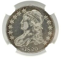 1829 Capped Bust Half Dollars ( 50c) Graded By NGC  VF Details *Cleaned*.