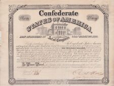 Confederate $1000 Bond With Seven $30 Coupons