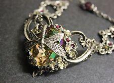 Artisan  Made with Swarovski crystal Luminious green antique style bracelet