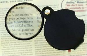 POCKET JEWELLERS LOUPE LENS MAGNIFYING EYE GLASS 4 SCRAP GOLD / SILVER STAMP 219