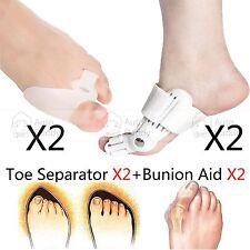 Day & Night Toe Bunion Splint Hallux Valgus Straightener Corrector Separator 2X