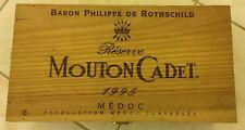 caisse en bois Vide Mouton Cadet 1995