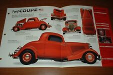★★1934 FORD COUPE SPEC SHEET BROCHURE POSTER PRINT PHOTO 34 CUSTOM HOT ROD★★