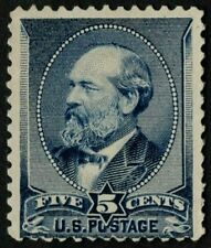 US Sc# 216 *MINT NO GUM LH* { 5c JAMES GARFIELD } GREAT OF 1888 SERIES CV$ 75.00
