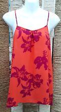 BANANA REPUBLIC PETITE BNWT Ladies Orange Floral Strappy Top Size Large RRP £45