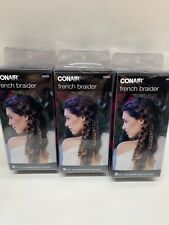 (3)CONAIR FRENCH BRAIDER 2PCS THE EASIEST BRAID TOOL EVER NEW IN BOX