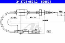 Seilzug Kupplungsbetätigung - ATE 24.3728-0521.2