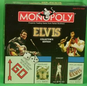 Monopoly Elvis Collectors Edition Property Trading Game USAopoly never played