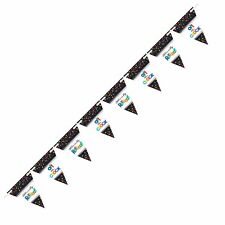 15ft Officially Retired Pennant Flag Banner Bunting Retirement Party Decorations