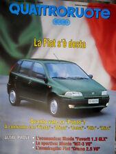 Quattroruote 455 1993 Quanto vale la Punto. Prove Fiat Croma 2.5 V6, Mazda Q102]